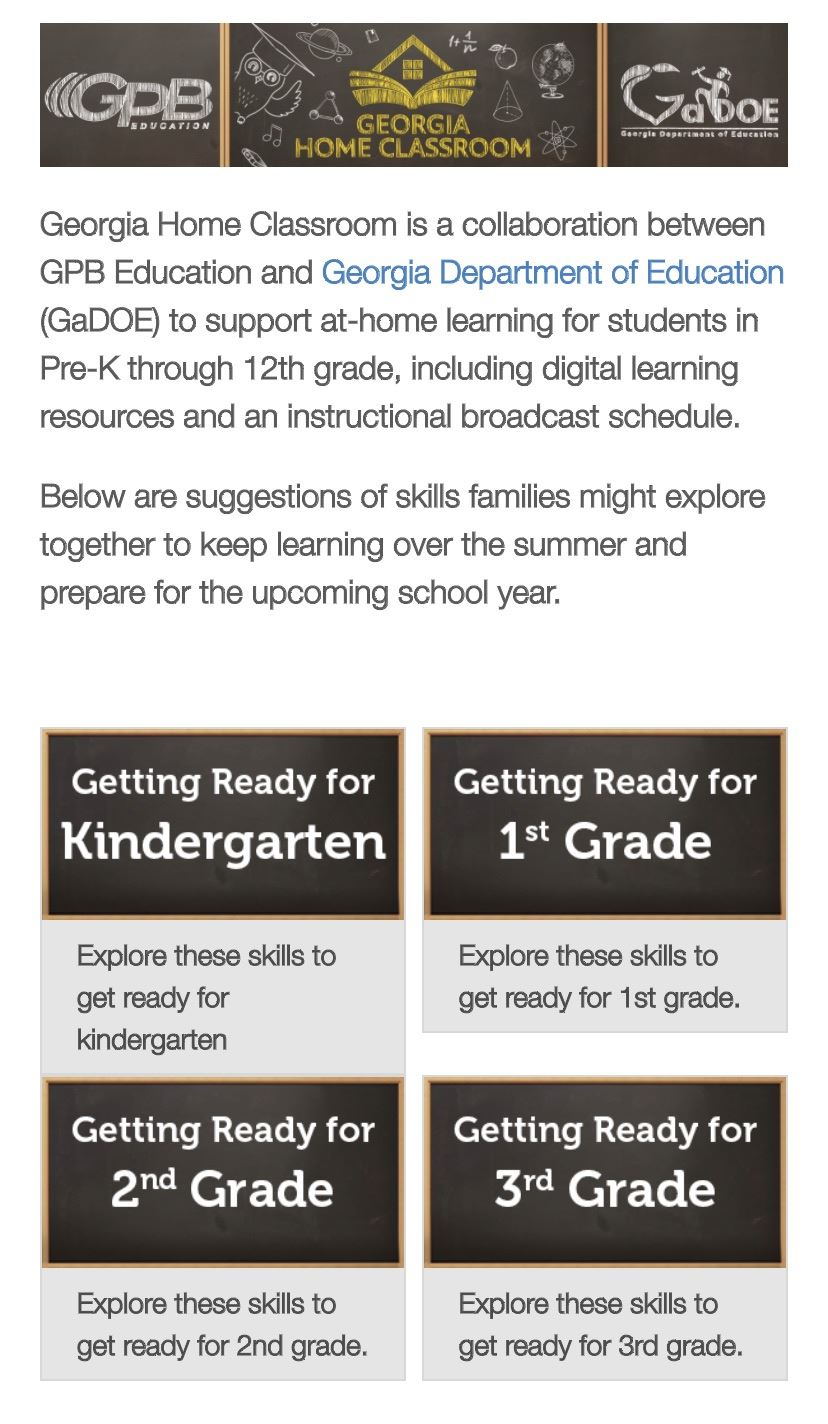 GA DOE launches 'Getting Ready' guides for K-3rd