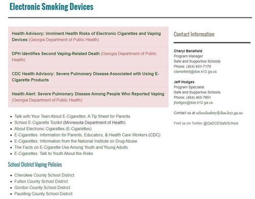 Electronic Smoking Devices