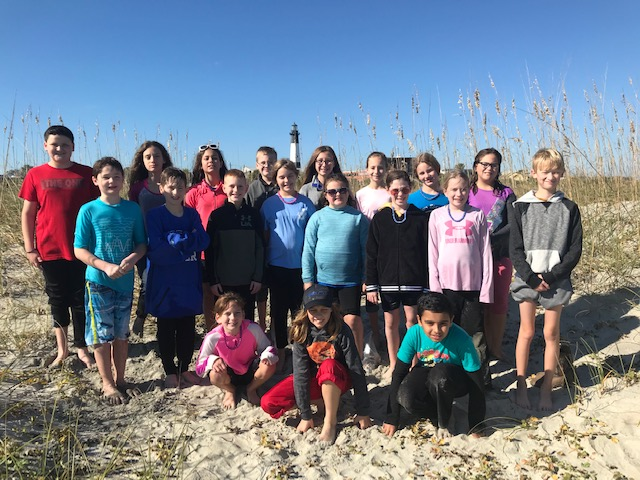 Floyd County 5th Grade Kaleidoscope Students Take on Tybee Island
